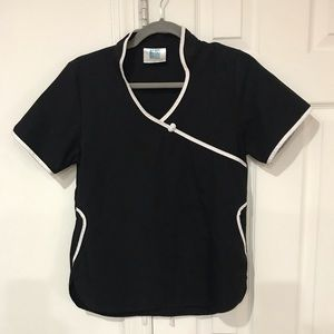 🎀4/$15 Adar Uniform Black Scrub Top Size XS